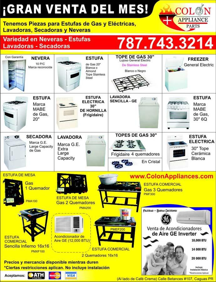 Colon appliance parts 787 743 3214